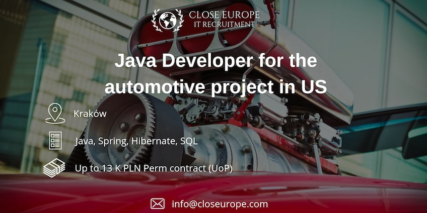 Java Developer in the automotive industry (US)