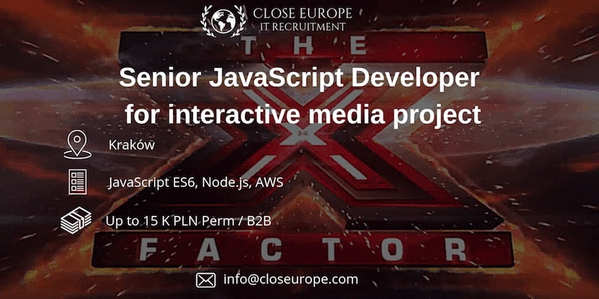 Senior JavaScript Developer in media & TV project