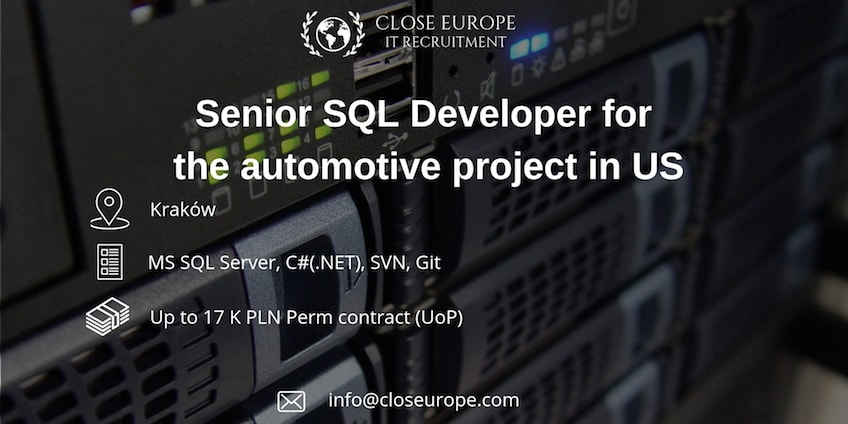 Senior SQL Developer in the automotive sector