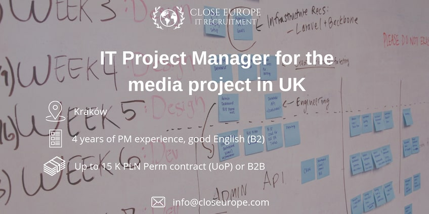 IT Project Manager for media sector in UK