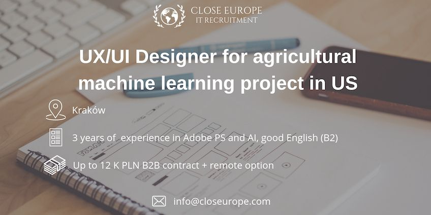 UX/UI Designer for agricultural machine learning project in US