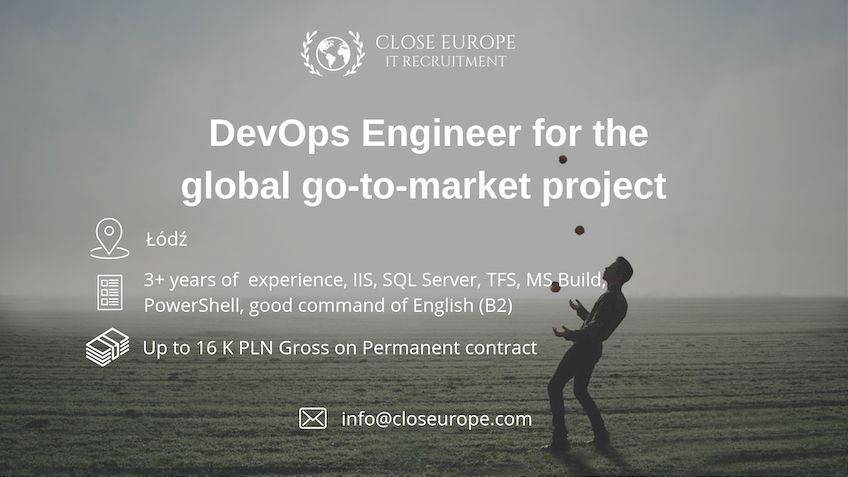 DevOps Engineer for global go-to-market project