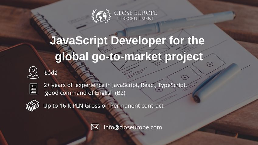 JavaScript Developer for global go-to-market project
