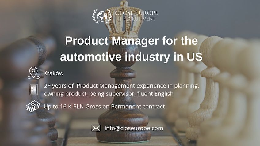Product Manager (IT) in automotive industry