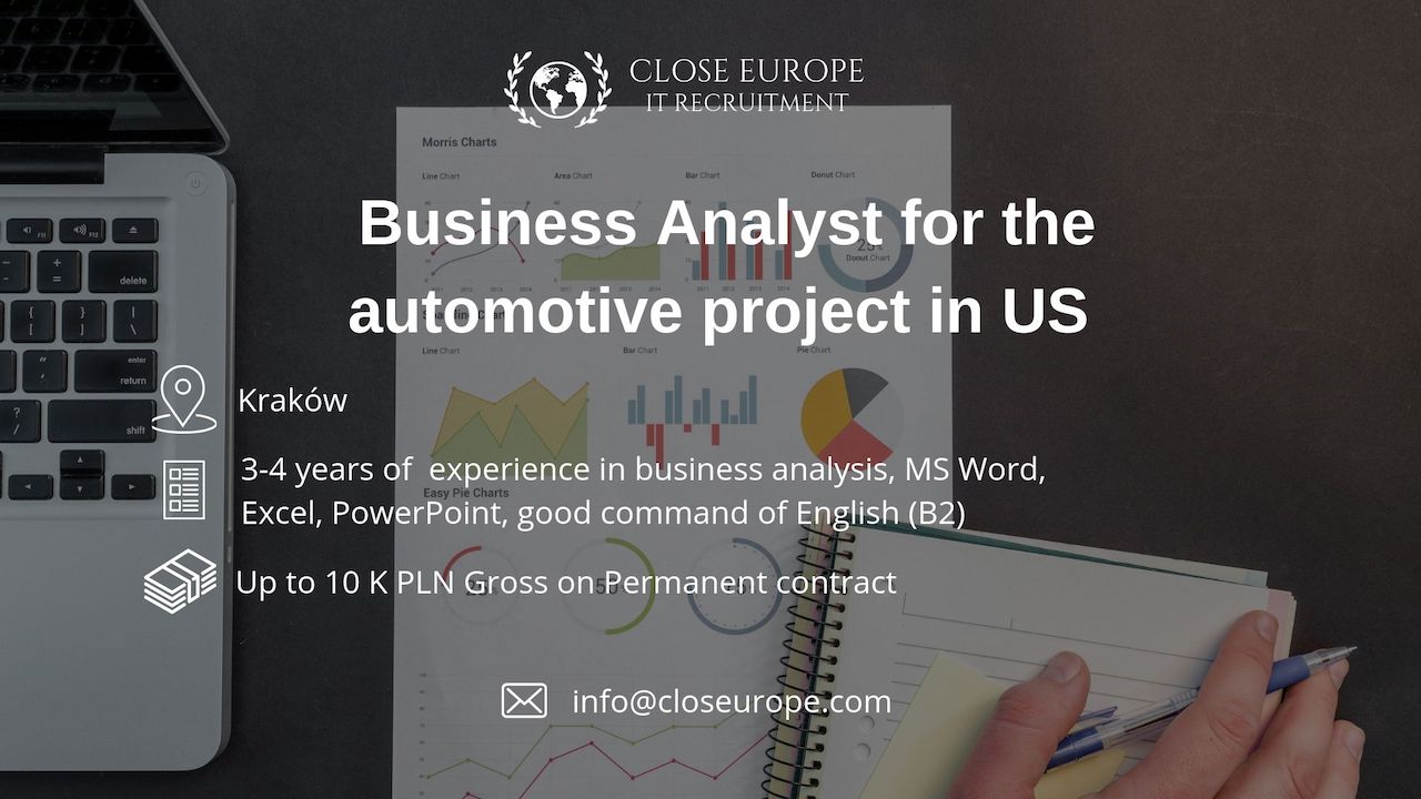 Business Analyst in the automotive sector in USA. Close Europe IT Recruitment