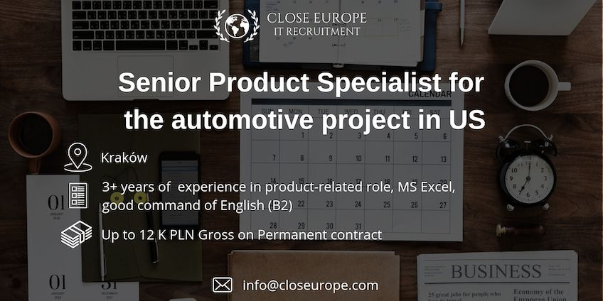 Senior Product Specialist (IT) in automotive industry in US