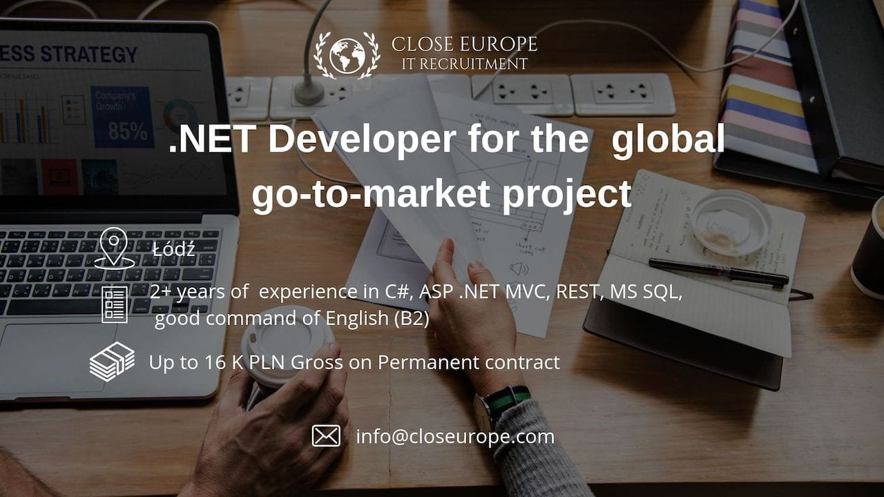 .NET Developer in global go-to-market project | Lodz
