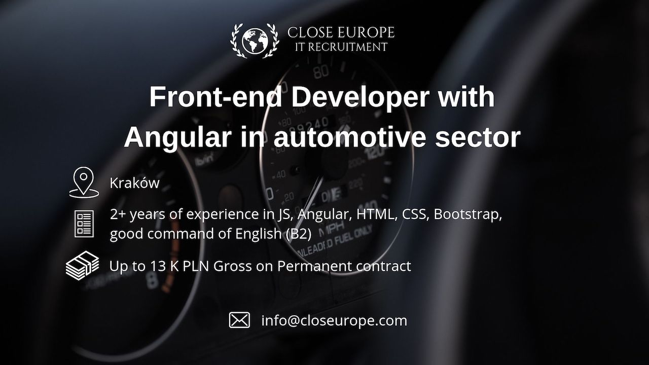 Front-end developer in the automotive sector | Kraków