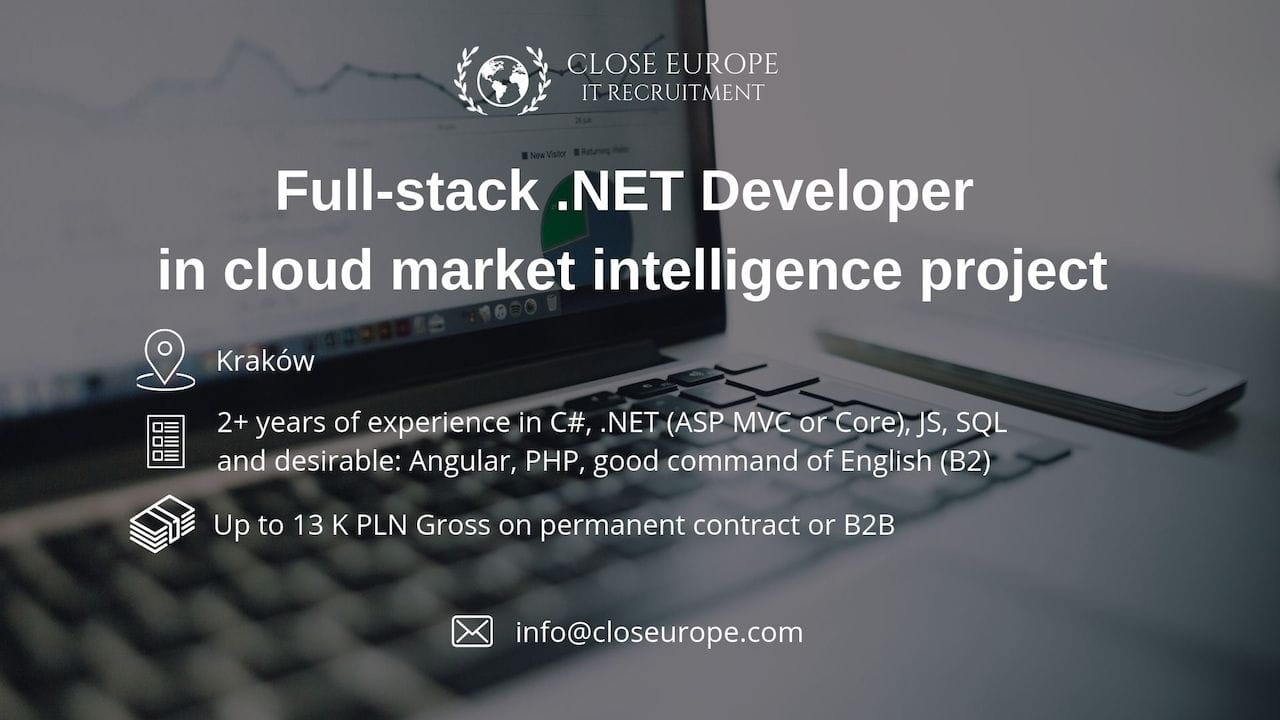 Full-stack .NET Developer in cloud market intelligence project | Krakow