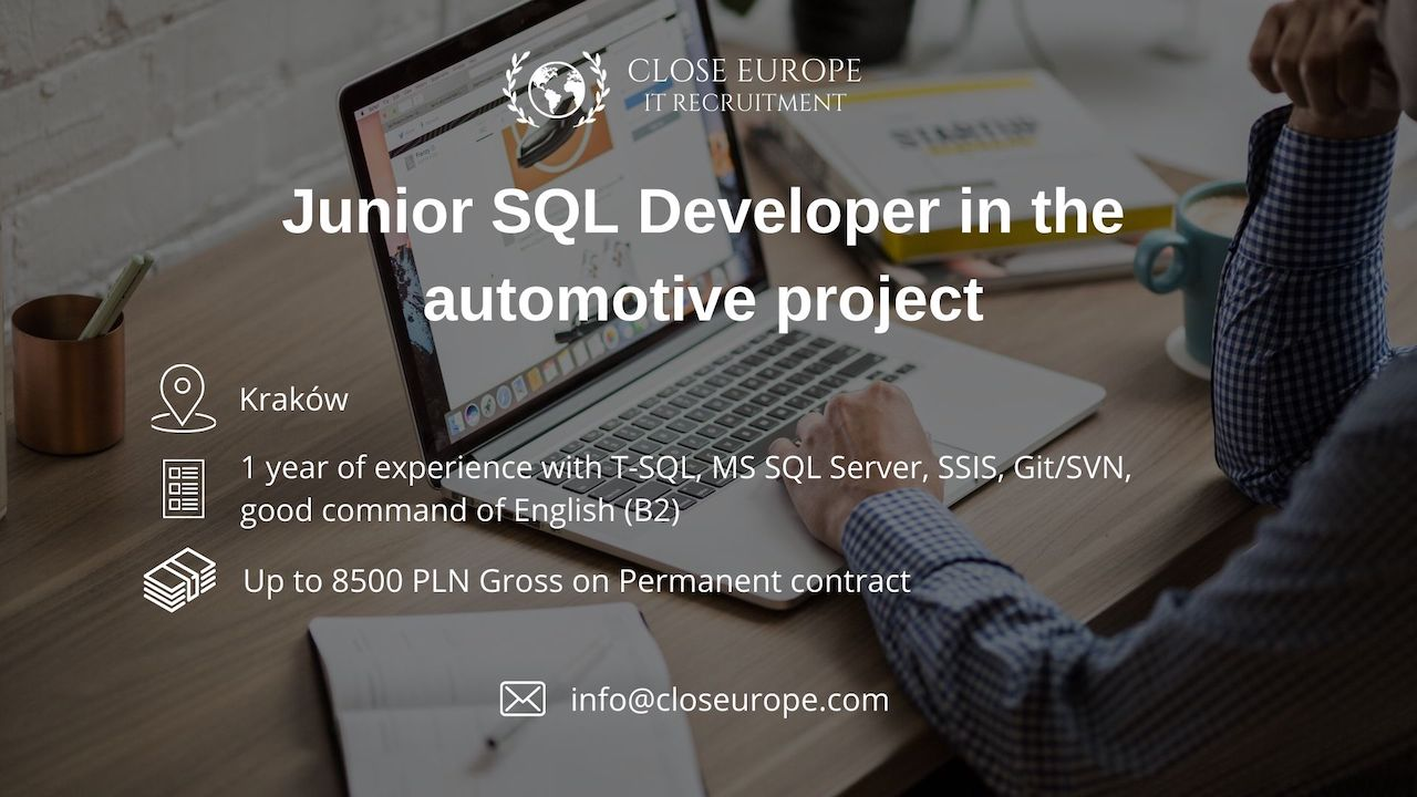 Junior SQL Developer in the automotive industry | Krakow. Photo: Pexels